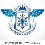 vintage vector design element.... | Shutterstock .eps vector #794885119