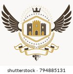 vintage heraldry design... | Shutterstock .eps vector #794885131
