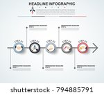 abstract infographics number... | Shutterstock .eps vector #794885791