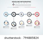 abstract infographics number... | Shutterstock .eps vector #794885824