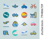 icon set about transport. with... | Shutterstock .eps vector #794886739