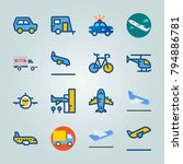 icon set about transport. with... | Shutterstock .eps vector #794886781