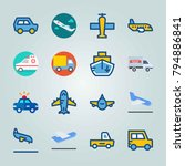 icon set about transport. with... | Shutterstock .eps vector #794886841