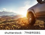 travel concept with big 4x4 car ... | Shutterstock . vector #794890081