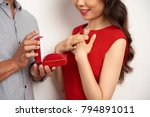 close up shot of unrecognizable ... | Shutterstock . vector #794891011