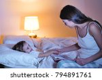 mom reads a fairy tale of...   Shutterstock . vector #794891761