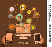 office life flat icon concept.... | Shutterstock .eps vector #794892301