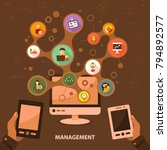 management flat icon concept.... | Shutterstock .eps vector #794892577