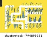 urban farming  gardening or... | Shutterstock .eps vector #794899381