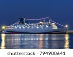 A Great Cruise Liner At Night...