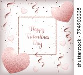 happy valentines day background ... | Shutterstock .eps vector #794903335