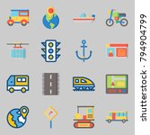 icons set about transportation. ... | Shutterstock .eps vector #794904799