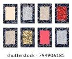 dark minimal covers. striped... | Shutterstock .eps vector #794906185