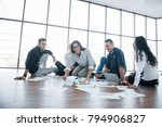 planning strategy together.... | Shutterstock . vector #794906827