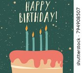vector illustration of happy... | Shutterstock .eps vector #794908507