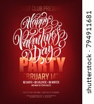 poster of valentine day in... | Shutterstock .eps vector #794911681
