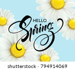 calligraphic inscription hello... | Shutterstock .eps vector #794914069