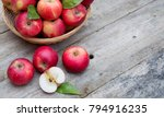 Organic Red Apples In A Basket...