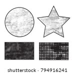 grunge halftone background... | Shutterstock .eps vector #794916241