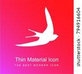 swift bird shape red and pink...   Shutterstock .eps vector #794916604