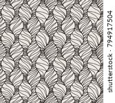 decorative vector seamless wave ... | Shutterstock .eps vector #794917504
