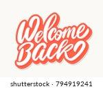 welcome back banner. | Shutterstock .eps vector #794919241