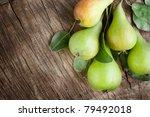 freshly harvested pears on old... | Shutterstock . vector #79492018