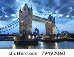 famous tower bridge  london  uk | Shutterstock . vector #79492060