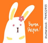 buona pasqua  happy easter ... | Shutterstock .eps vector #794922955