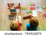 kids learning numbers  mental...   Shutterstock . vector #794923879