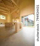 modern house  wooden interiors... | Shutterstock . vector #794924431