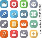 flat vector icon set   doctor... | Shutterstock .eps vector #794925505