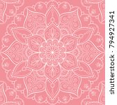 seamless pattern with mandala... | Shutterstock .eps vector #794927341