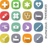 flat vector icon set   medical... | Shutterstock .eps vector #794930455