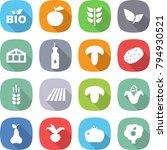 flat vector icon set   bio...   Shutterstock .eps vector #794930521