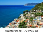 riomaggiore  cinque terre  italy   Shutterstock . vector #79493713