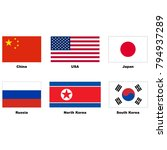 china  usa  japan  russia ... | Shutterstock .eps vector #794937289