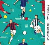 football or soccer players   Shutterstock .eps vector #794946619