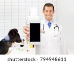 veterinarian showing the a... | Shutterstock . vector #794948611