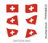 set of icons of the flag of... | Shutterstock .eps vector #794948815