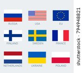 icons set of various country's... | Shutterstock .eps vector #794948821