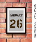 january 26th. 26 january... | Shutterstock . vector #794949985