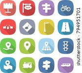 flat vector icon set  ... | Shutterstock .eps vector #794951701