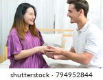 beautiful pregnant woman... | Shutterstock . vector #794952844