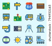 icons set about travel. with... | Shutterstock .eps vector #794953165