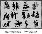 silhouettes of fairy tale... | Shutterstock .eps vector #79495372