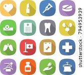 flat vector icon set   heart... | Shutterstock .eps vector #794953939