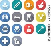flat vector icon set   virus... | Shutterstock .eps vector #794954029