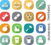 flat vector icon set   bio... | Shutterstock .eps vector #794954041