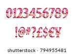 gold glittering metal alphabet  ... | Shutterstock .eps vector #794955481